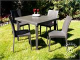 Stacking chair, Rattan Bistrot, Anthracite, 6 pcs. - 1