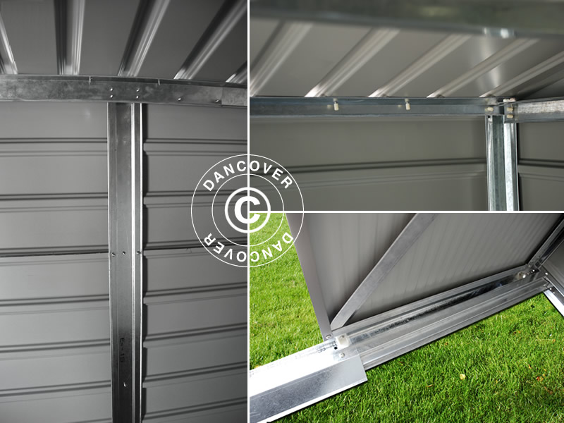 Redskabsskur 3 4x3 82x2 05m proshed gr n dancovershop dk - Casetas de metal ...
