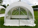 Tente de réception dome Multipavillon 3x3m, Blanc - 1