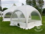 Tente de réception dome Multipavillon 3x3m, Blanc - 2