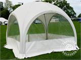 Tente de réception dome Multipavillon 3x3m, Blanc - 3
