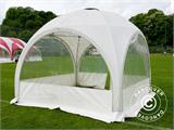 Tente de réception dome Multipavillon 3x3m, Blanc - 4