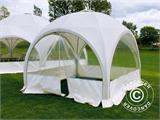 Tente de réception dome Multipavillon 3x3m, Blanc - 5