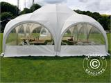 Tente de réception dome Multipavillon 6x6m, Blanc - 2