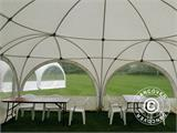 Tente de réception dome Multipavillon 6x6m, Blanc - 6