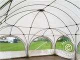 Tente de réception dome Multipavillon 6x6m, Blanc - 9