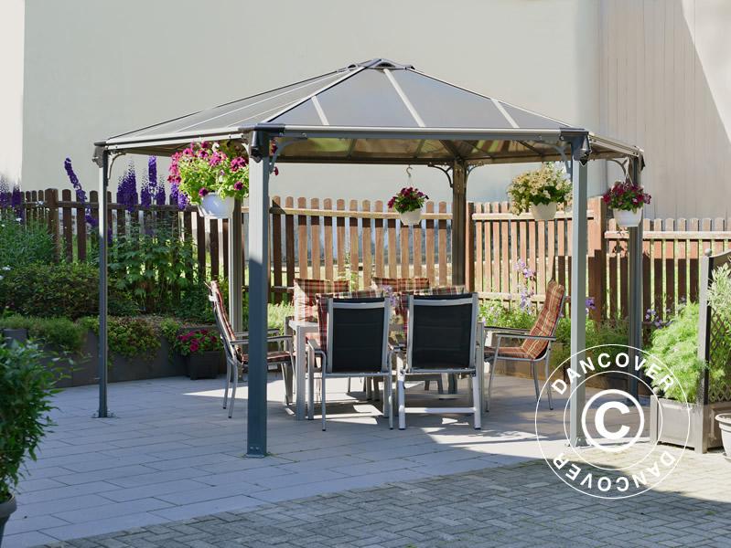 Tonnelle de jardin Monaco 4,5x4,5m - Dancovershop FR