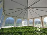Pagoda Marquee Exclusive 6x6 m PVC, White - 9