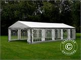 Partytent PLUS 4x10m PE, Grijs/Wit - 1
