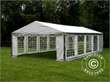 Partytent PLUS 4x10m PE, Grijs/Wit - 2