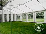 Partytent PLUS 4x10m PE, Grijs/Wit - 7