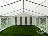 Partytent PLUS 4x10m PE, Grijs/Wit - 9