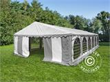 Partytent, SEMI PRO Plus CombiTents® 6x12m 4-in-1, Wit/Grijs - 3