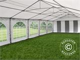 Partytent, SEMI PRO Plus CombiTents® 6x12m 4-in-1, Wit/Grijs - 5