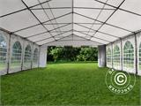 Partytent, SEMI PRO Plus CombiTents® 6x12m 4-in-1, Wit/Grijs - 8