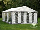 Partytent PLUS 5x6m PE, Grijs/Wit - 3