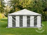 Partytent PLUS 5x6m PE, Grijs/Wit - 4