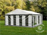 Partytent PLUS 5x6m PE, Grijs/Wit - 5