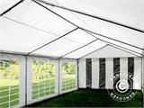 Partytent PLUS 5x6m PE, Grijs/Wit - 7