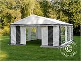 Partytent PLUS 5x6m PE, Grijs/Wit - 8