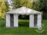 Partytent PLUS 5x6m PE, Grijs/Wit - 9