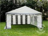 Partytent PLUS 5x6m PE, Grijs/Wit - 15