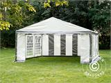 Partytent PLUS 5x6m PE, Grijs/Wit - 18
