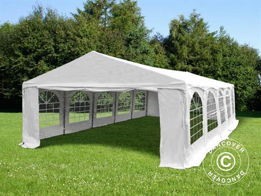 Partytelt 5x8m PVC pakke: telt, bundramme, jordspyd og