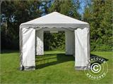 Partytent PLUS 3x6m PE, Grijs/Wit - 1