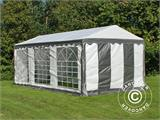 Partytent PLUS 3x6m PE, Grijs/Wit - 2