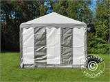 Partytent PLUS 3x6m PE, Grijs/Wit - 4