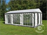 Partytent PLUS 3x6m PE, Grijs/Wit - 5