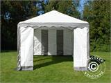 Partytent PLUS 3x6m PE, Grijs/Wit - 6