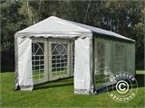 Partytent PLUS 3x6m PE, Grijs/Wit - 8