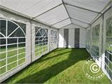Partytent PLUS 3x6m PE, Grijs/Wit - 11