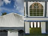 Marquee Original 3x6 m PVC, Grey/White - 10