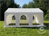 Carpa para fiestas, SEMI PRO Plus CombiTents® 5x10m, 3 en 1, Blanco - 4