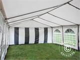 Marquee Original 5x10 m PVC, Grey/White - 8