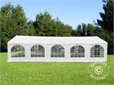 "Marquee Original 5x10 m PVC, ""Arched"", White - 3"