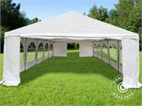 "Marquee Original 5x10 m PVC, ""Arched"", White - 4"
