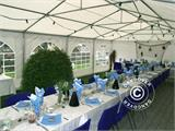 Marquee Exclusive 6x10 m PVC, White - 11