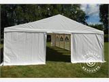 "Tente de réception Exclusive 6x10m PVC, ""Arched"", Blanc - 1"