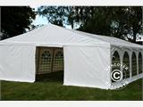 "Tente de réception Exclusive 6x10m PVC, ""Arched"", Blanc - 3"