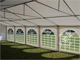 "Tente de réception Exclusive 6x10m PVC, ""Arched"", Blanc - 6"