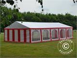 Partyzelt Exclusive 6x10m PVC, Rot/Weiß - 1