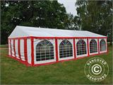 Partyzelt Exclusive 6x10m PVC, Rot/Weiß - 2