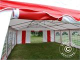 Partyzelt Exclusive 6x10m PVC, Rot/Weiß - 5