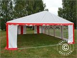 Partyzelt Exclusive 6x10m PVC, Rot/Weiß - 6