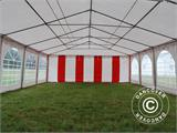 Partyzelt Exclusive 6x10m PVC, Rot/Weiß - 7