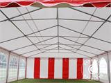 Partyzelt Exclusive 6x10m PVC, Rot/Weiß - 8